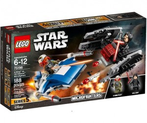 LEGO ® 75196 Star Wars A-Wing™ kontra TIE Silencer™