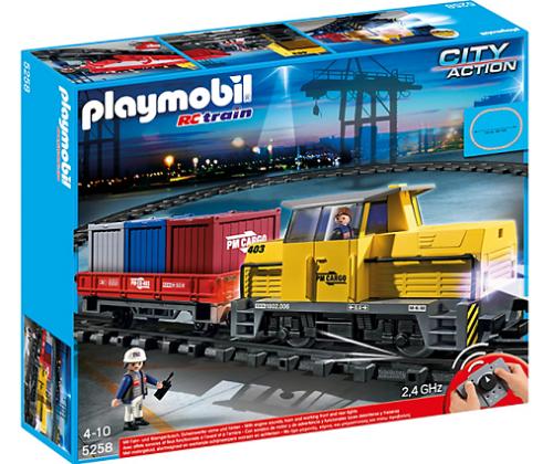 Playmobil 5258 Nowy Zdalnie Sterowany Pociąg Towarowy Ze światłem I