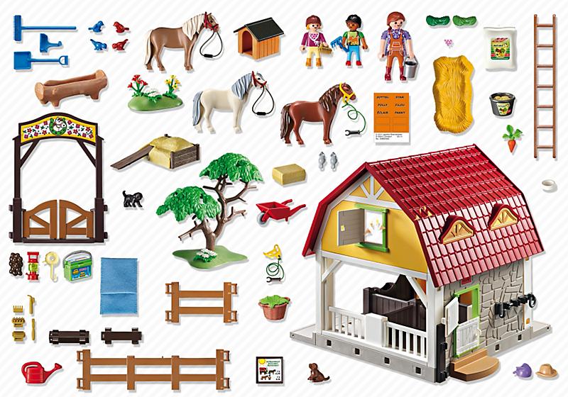 Playmobil 5222 stadnina kucyk w - Playmobil haras ...